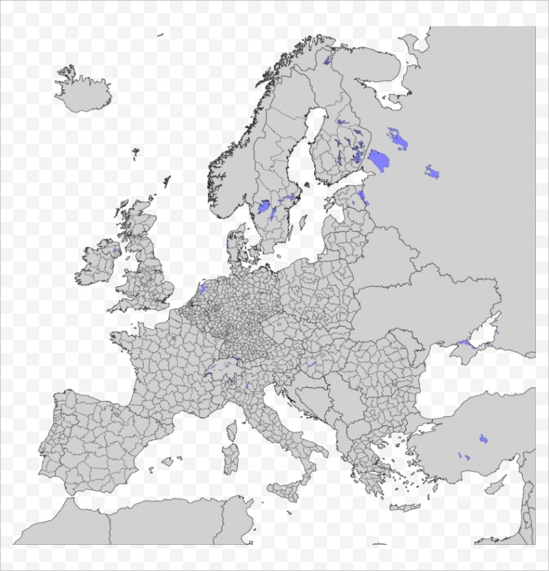 ihmiJT open blank map of europe subdivisions hd png