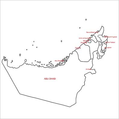 uae map outlineml