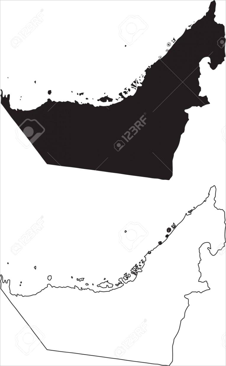 photo stock vector united arab emirates uae emirates map black silhouette country map isolated on white background blac