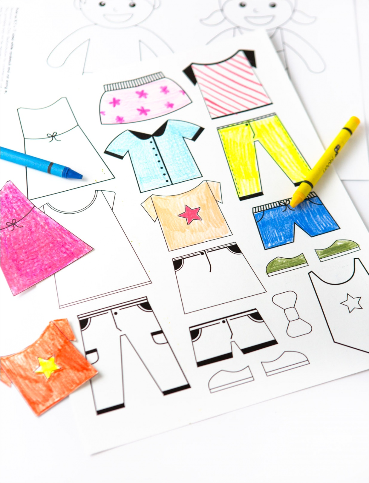 coloring paper dolls