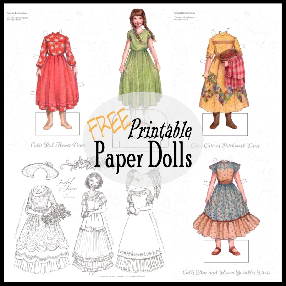 printable paper dolls to color and play