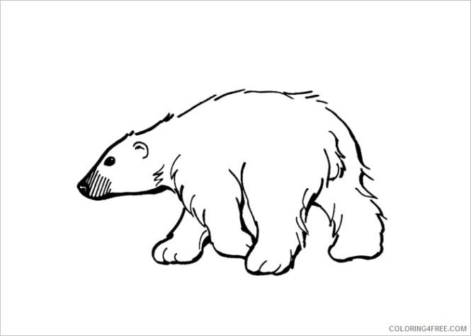 polar bear coloring pages animal printable sheets polar bear1 2021 3968 coloring4free