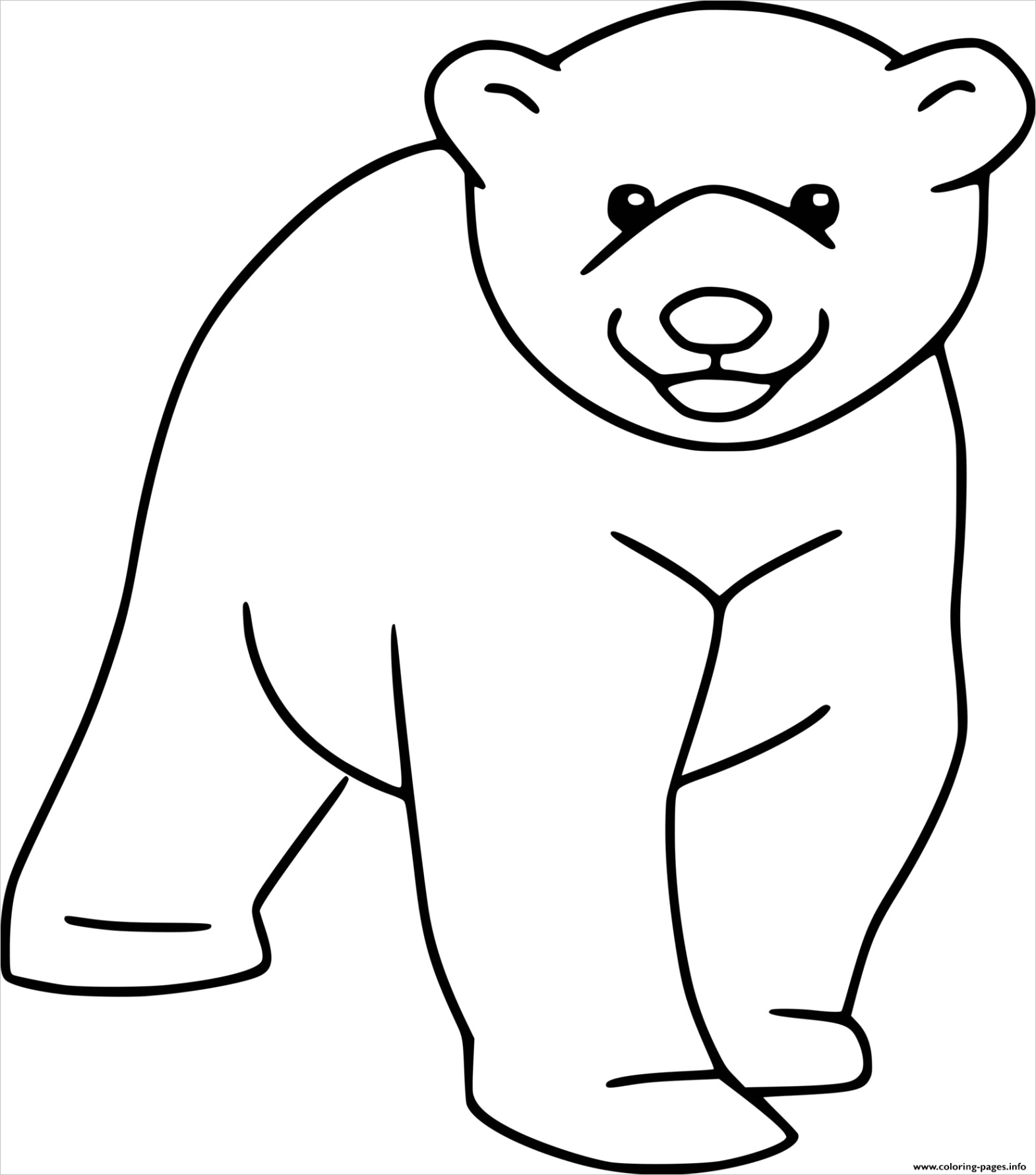 easy polar bear cub printable coloring pages book