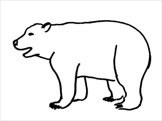 realistic bear coloring pagesml
