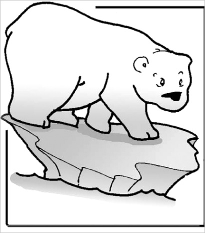polar bear coloring pagesml