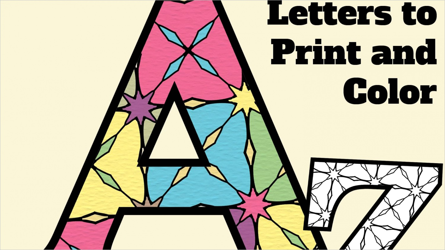 printable alphabet letters with pattern