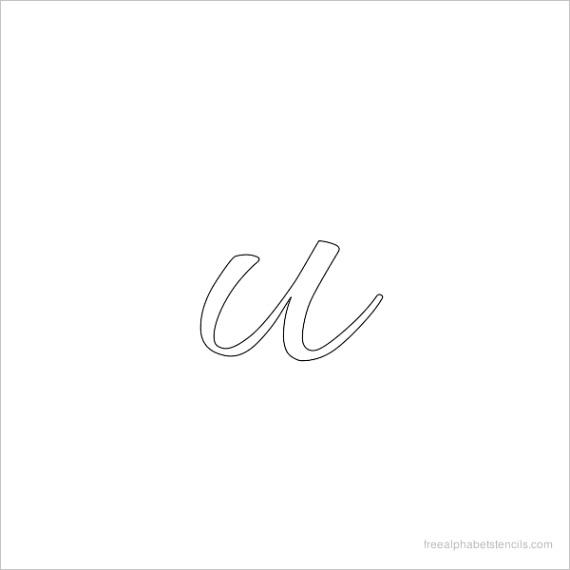 allura cursive alphabet stencils in lowercase small lettersml
