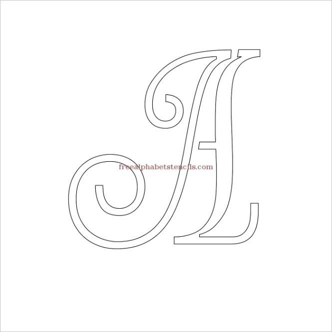decorative cursive uppercase lowercase alphabet stencilsml