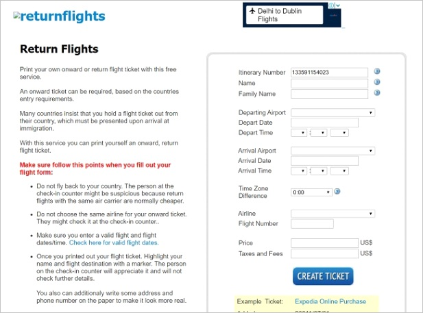 generate fake airline tickets boarding passes