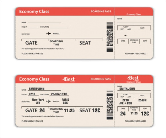 blank airline ticket template clip art