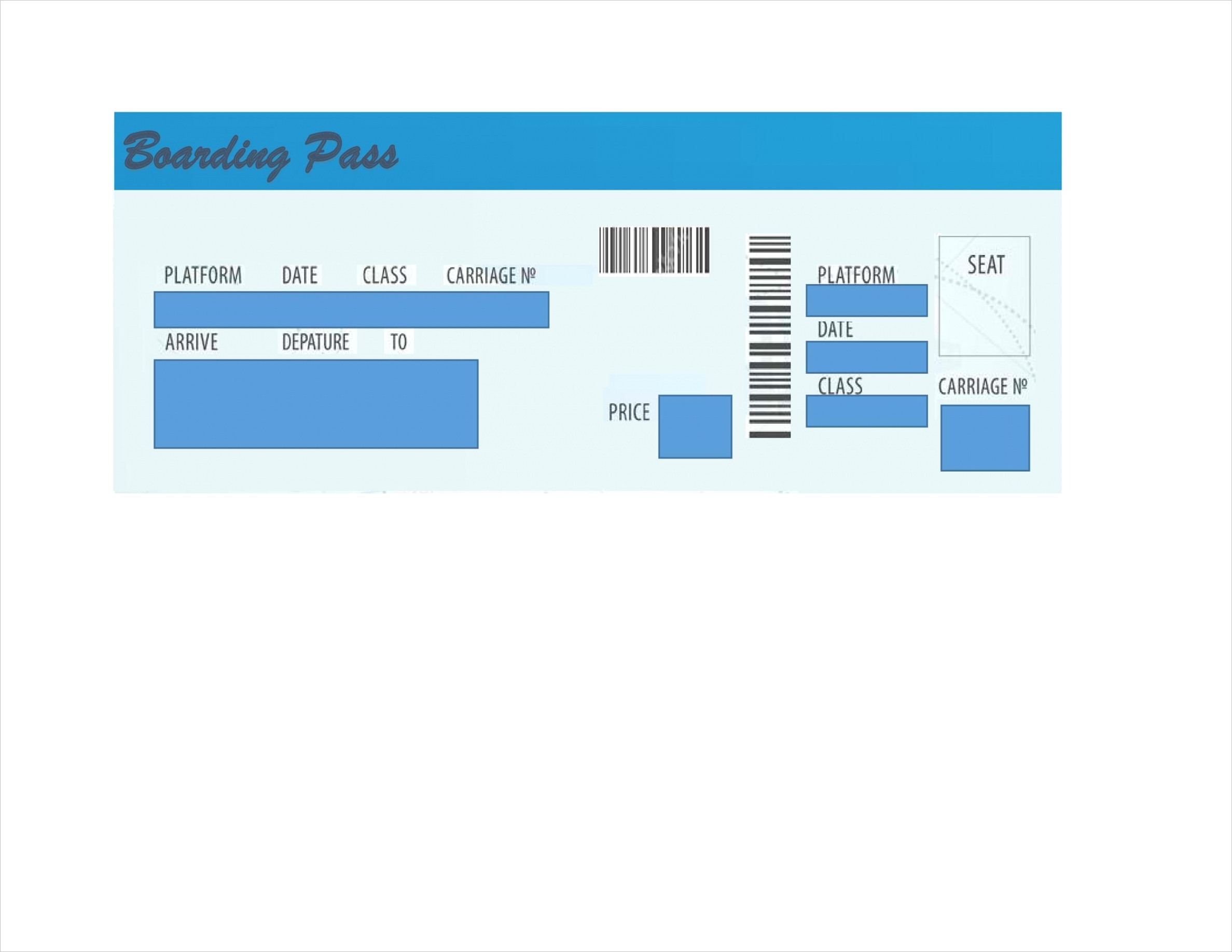 free printable fake airline tickets