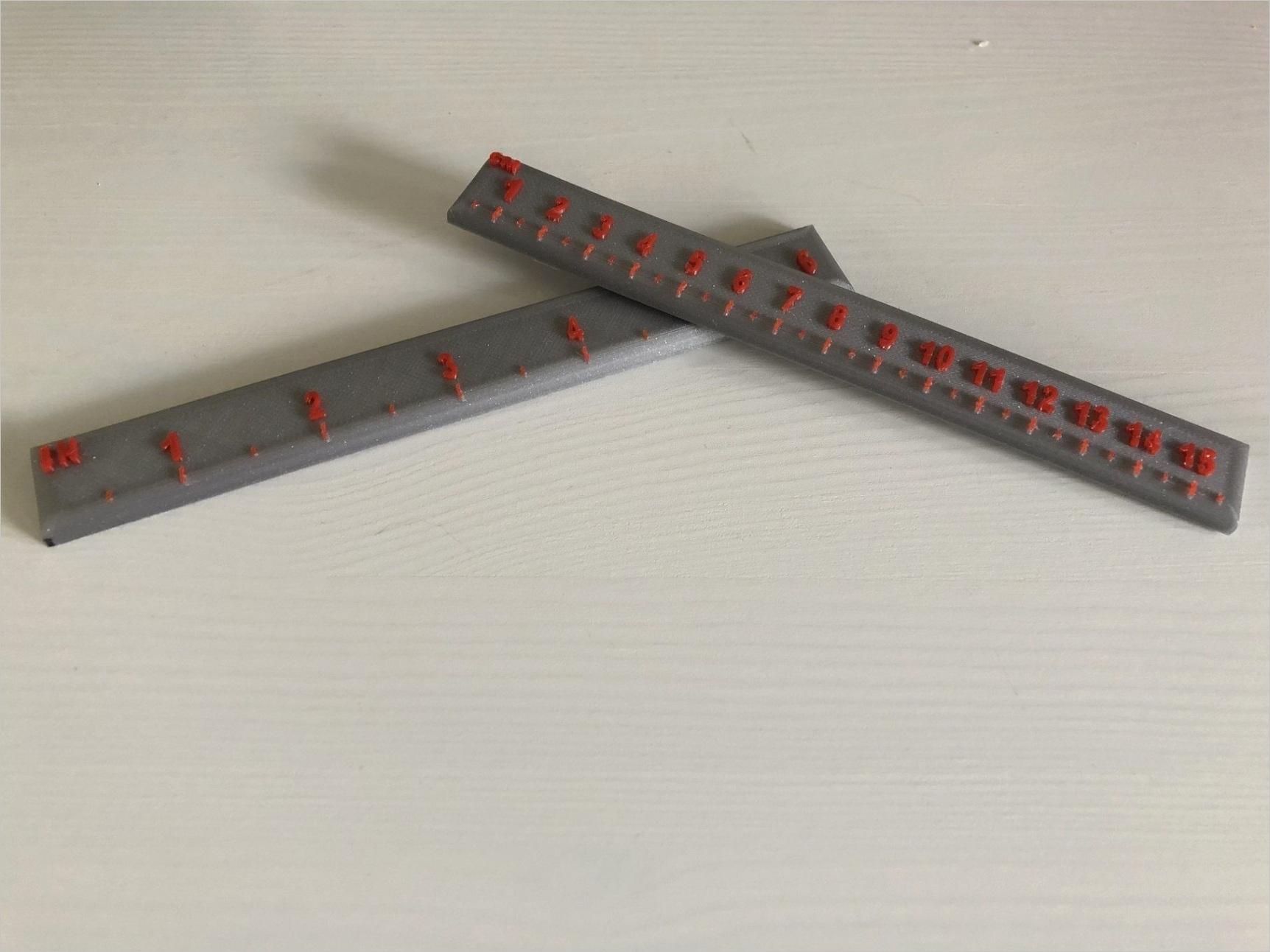 ruler cm in mr 3d printer