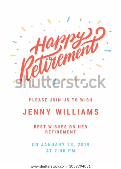 happy retirement party invitation template