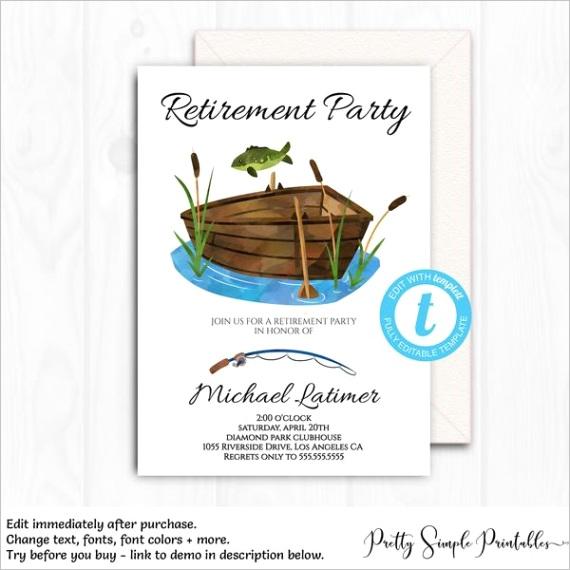 retirement invitation for men fishing invite ret1