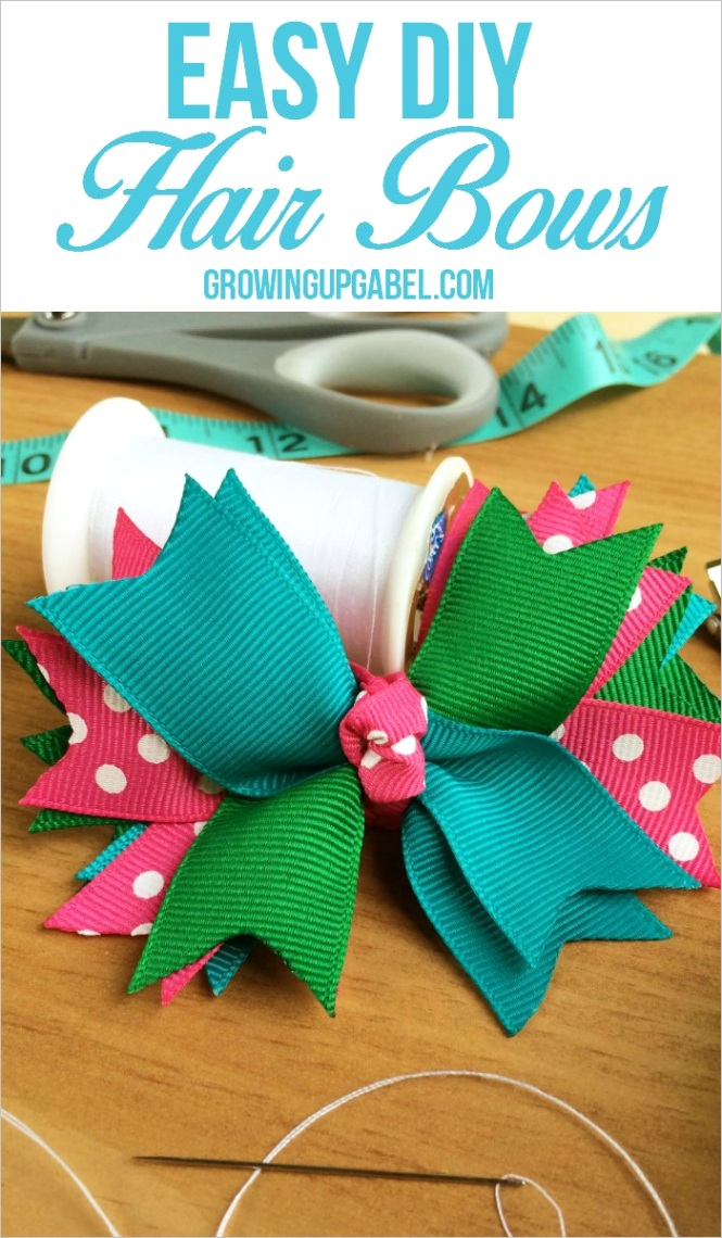how to make hair bows out of ribbon