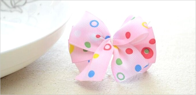 2014 how to make a lovely hair bow out of thin ribbon within 5 minutes