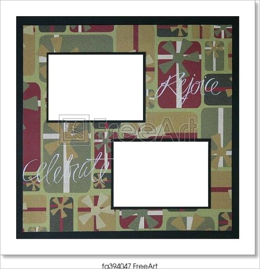 christmas scrapbook frame template fa