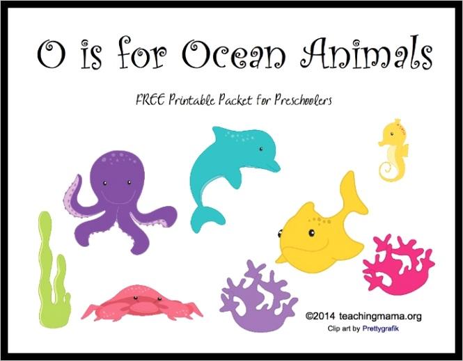 o ocean animals letter o printables