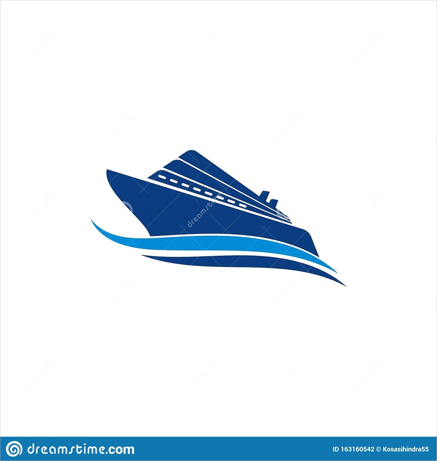 cruise ship logo template vector icon design image