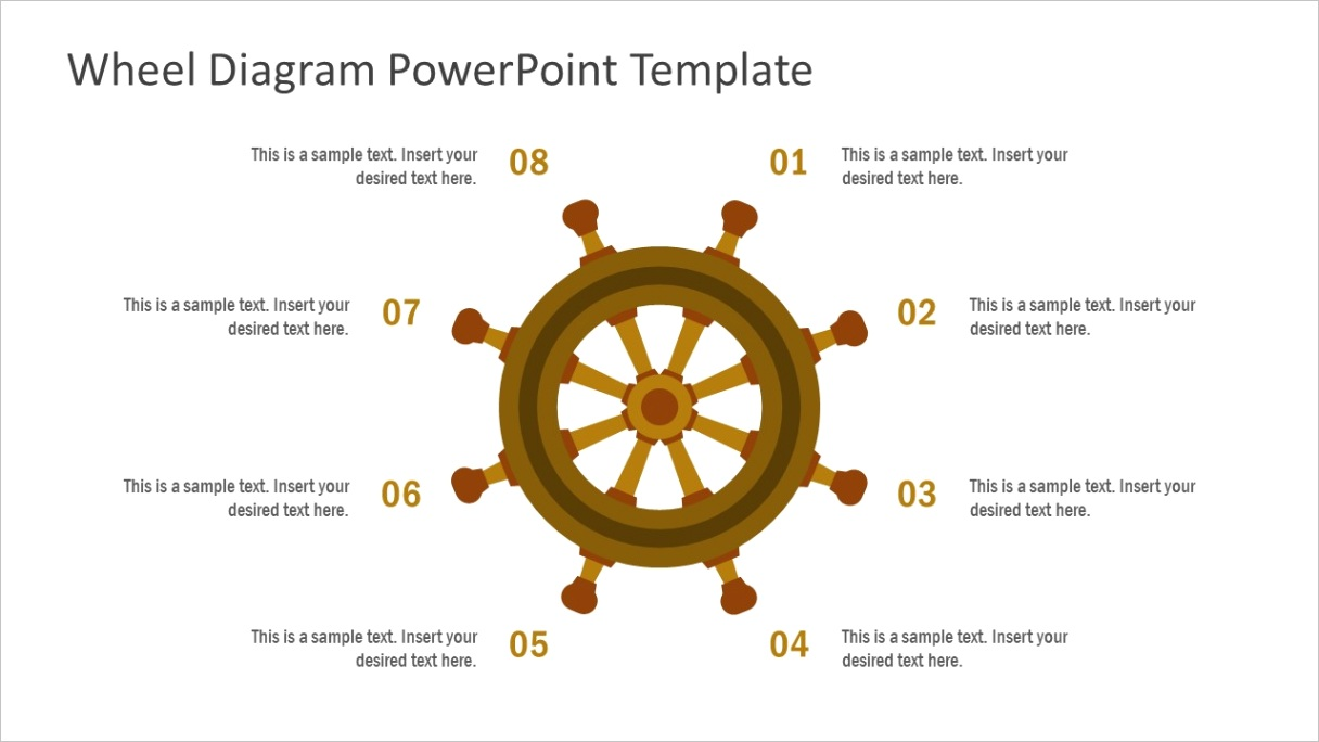 8 step ship wheel diagram for powerpoint