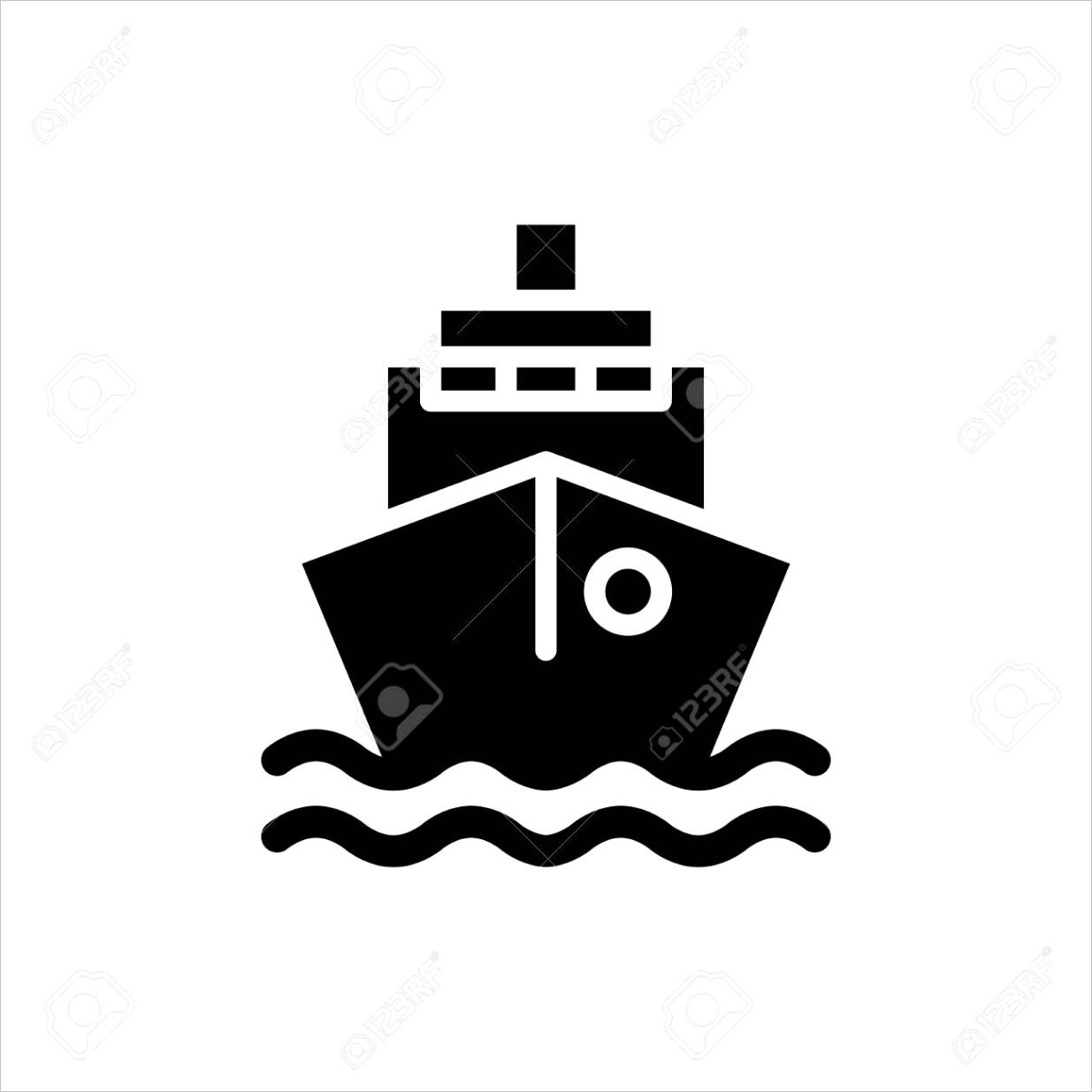 photo stock vector ship icon flat vector template design trendy
