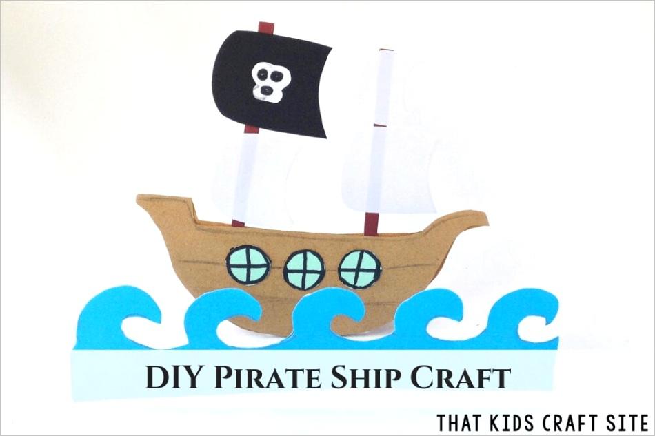 printable pirate ship template