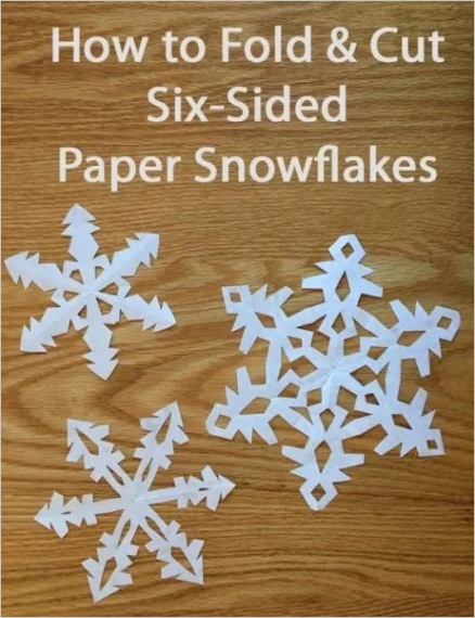 instructions for making paper snowflakes an easy tutorial