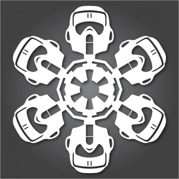geektastic star wars paper snowflakes pics templates