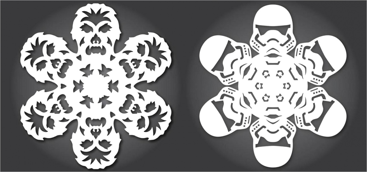60 free paper snowflake templates star wars style