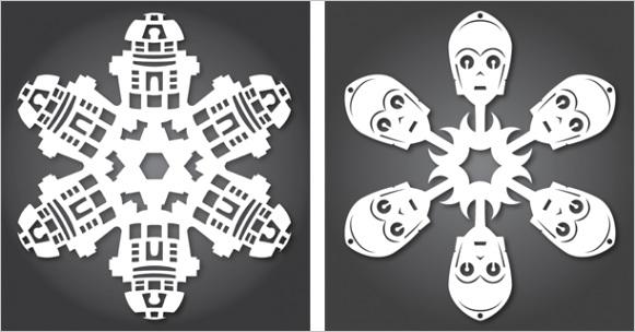 more star wars paper snowflakes