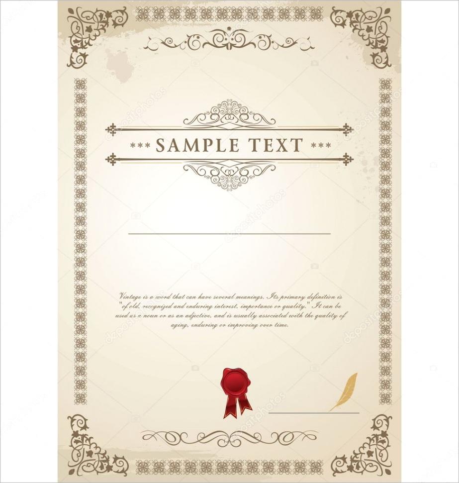 stock illustration certificate templateml