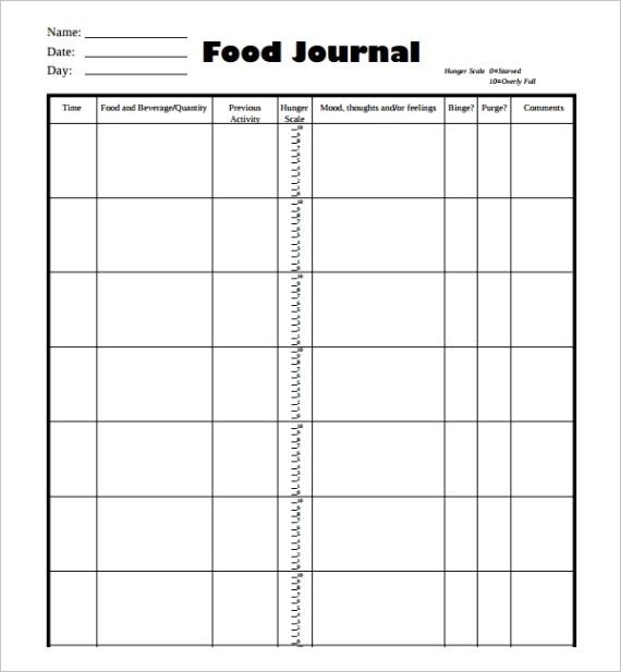 food journal templateml