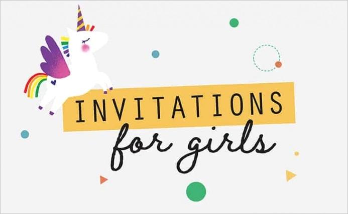 girl birthday invitation templates