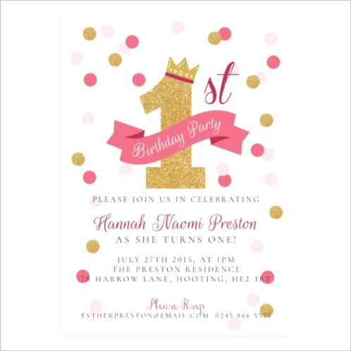 golden crown birthday party invitation