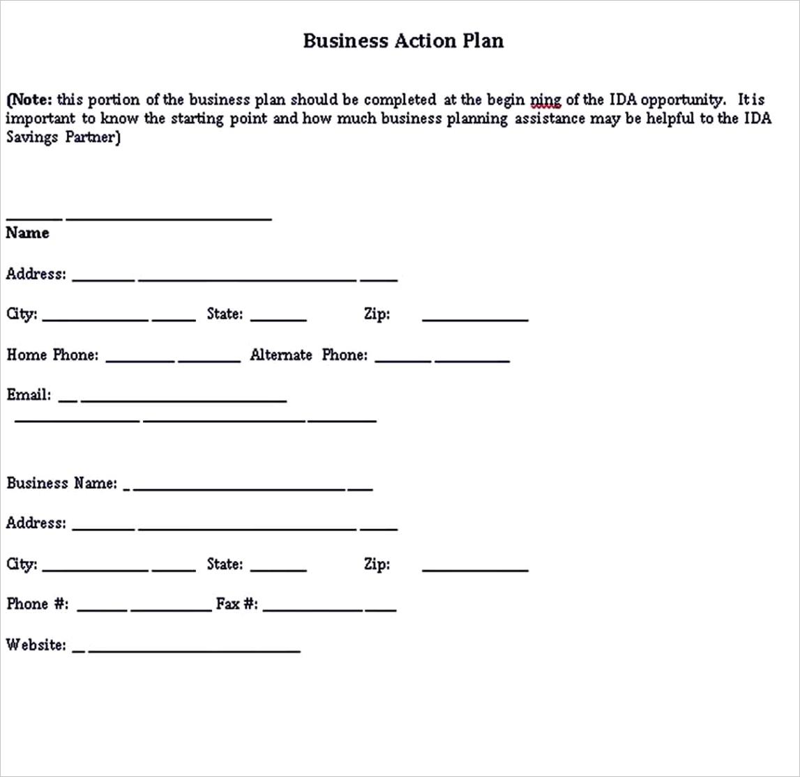 performance action plan templates