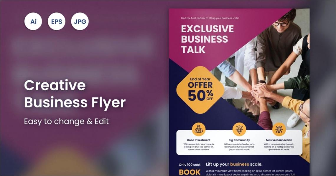 creative business event flyer 47 slidewerk EFHGKWA