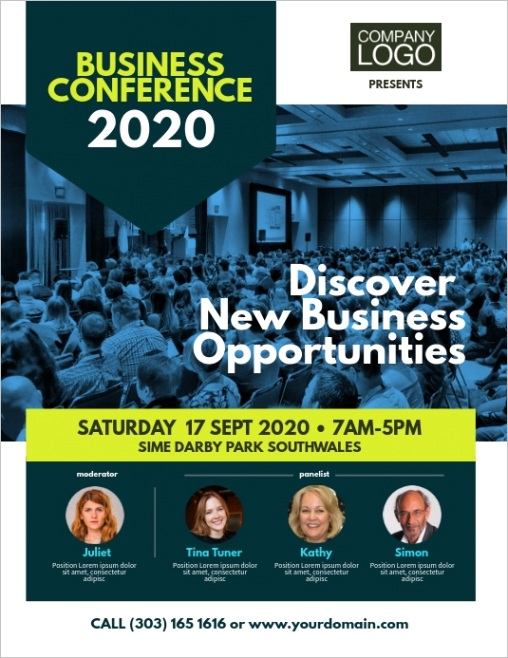 business conference event flyer design template