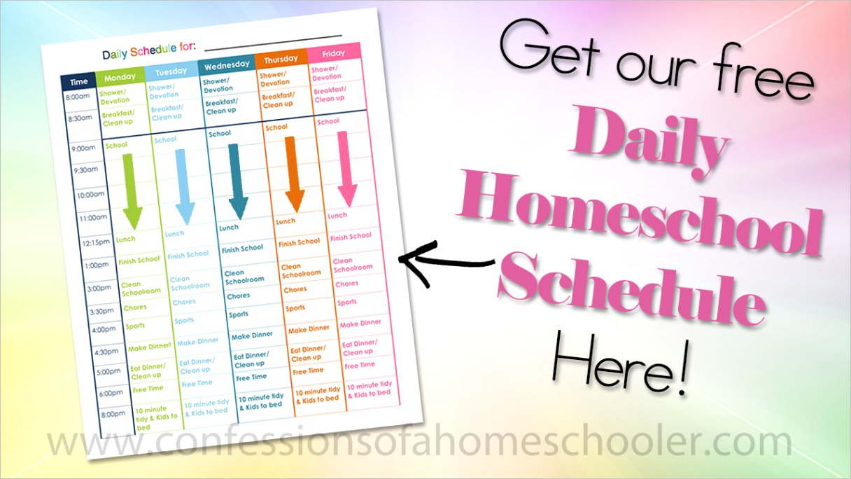 our daily homeschool scheduleml