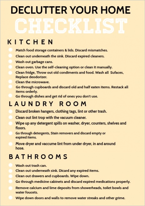 home cleaning checklist template design