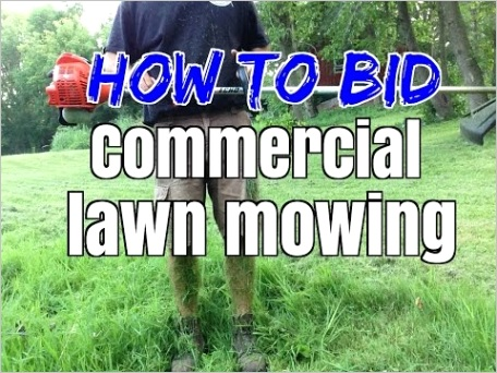 how to bid a lawn mowing job