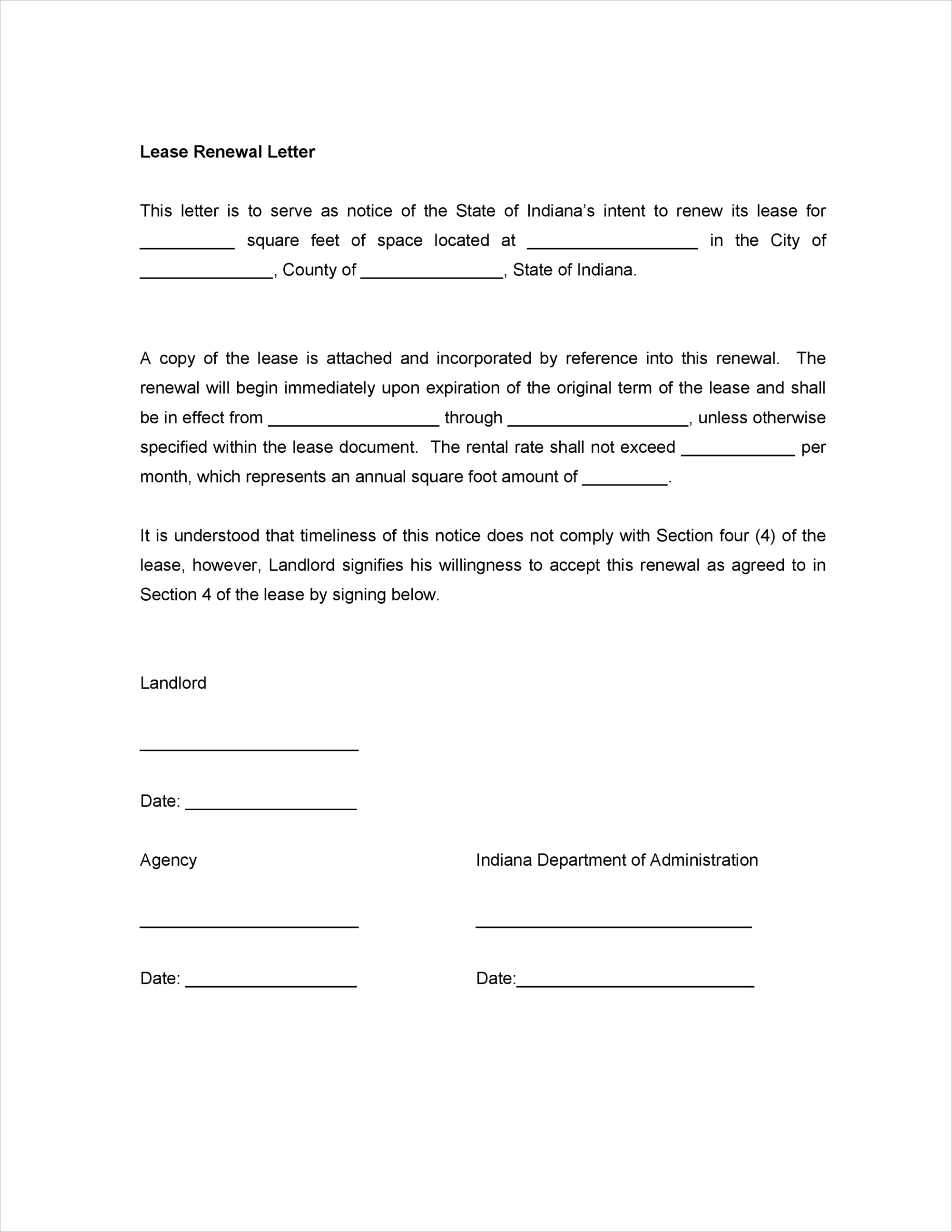 lease renewal letters