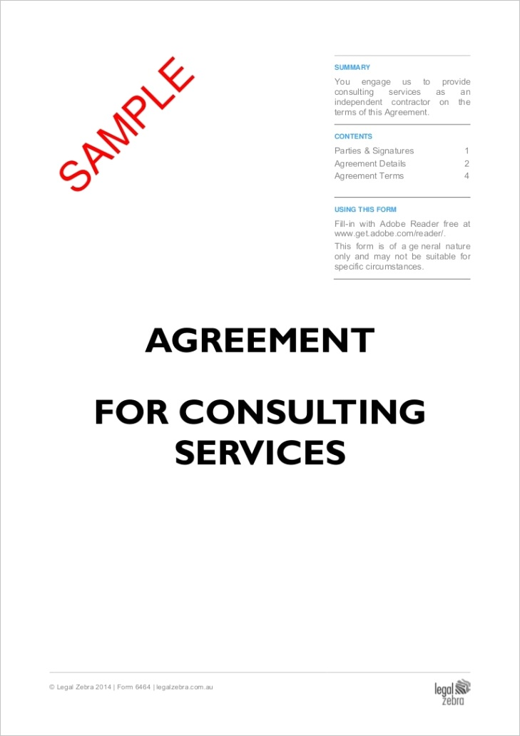 agreement for consulting services doc no 6464 sample