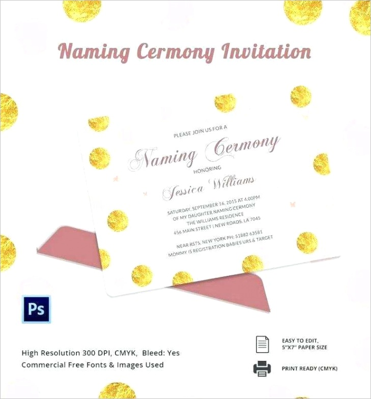 invitation card template for naming ceremony