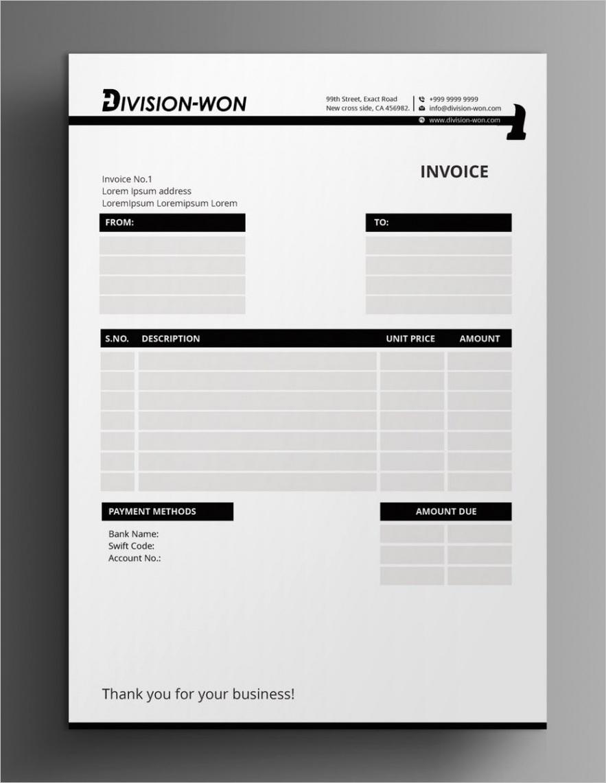 invoice design ideas