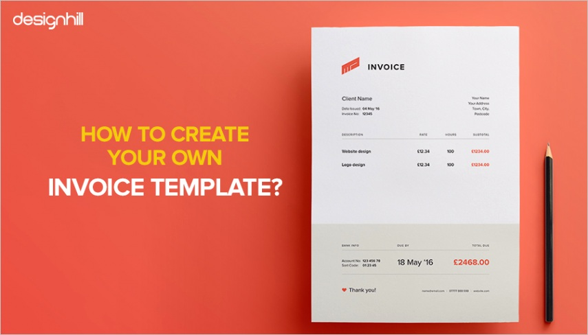 how to create your own invoice template