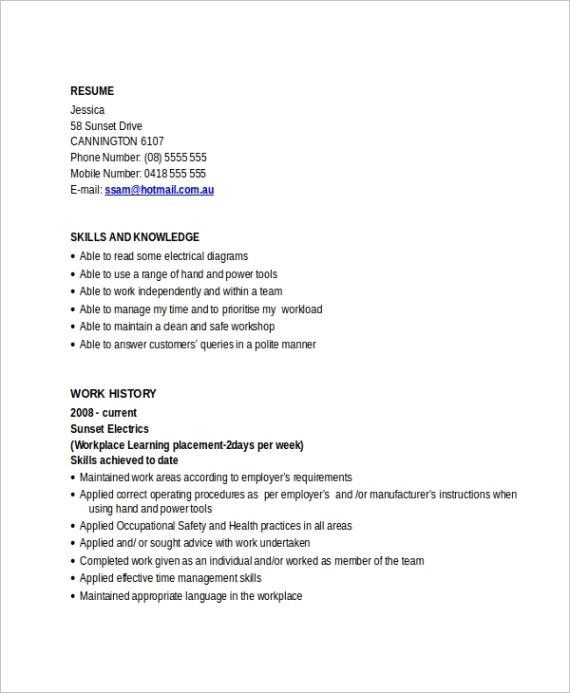 electrician resume templateml