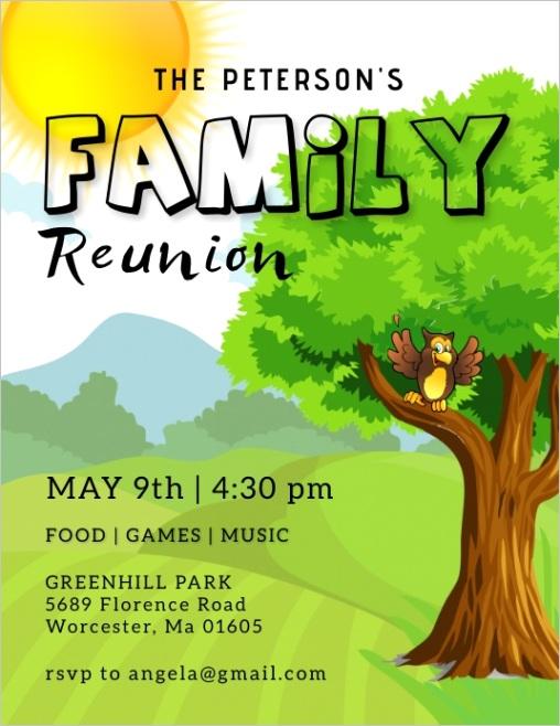 family reunion flyer template design