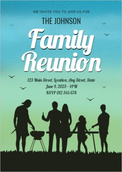 t invitation family reunion night party 0d6DfB