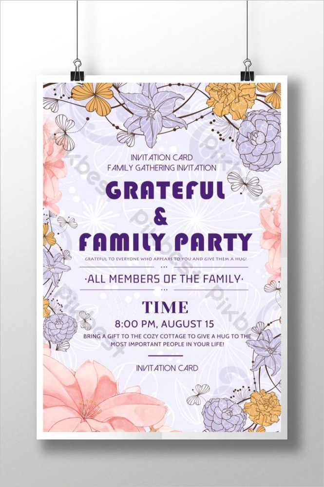 fresh style family gathering invitation ml