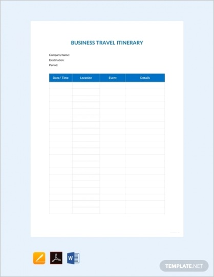 itinerary templates apple pagesml